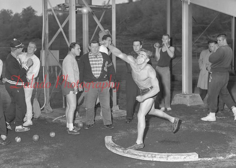 (May 1960) Mount Carmel High School track.