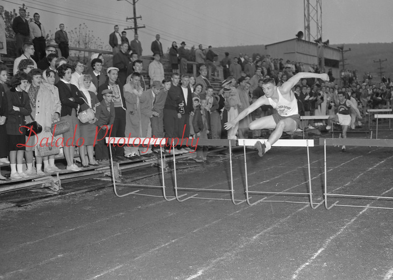 (May 1960) Mount Carmel High School track.