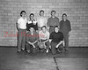 "(04.07.55) Intra-mural champs of Kulpmont High School ""The Wreck"" basketball team are, front row, from left, Ralph Procopio, Chet Kruleski and Joe Ruths; back, Lottie Varano, Joe Carabine, George Griscavage, Donald Machuzak and Gene Sinopoli, coach."