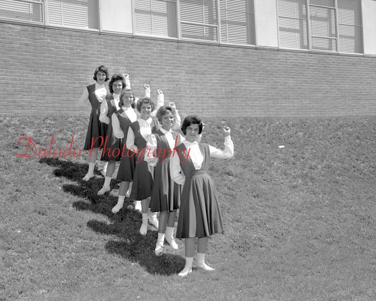 (1960) Lourdes cheerleaders.