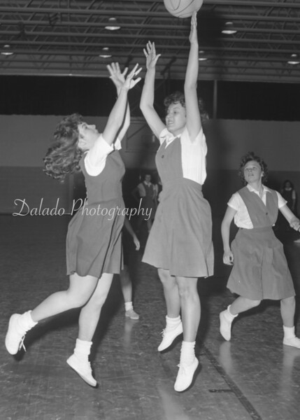 (Feb. 1961) Our Lady of Lourdes Regional drops a 20-26 decision to St. Cyril's Academy, Danville. OLOL coached by Martina Alexander.