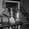 (05.29.58) Chairman of the Shamokin/Coal Township Sports Association check containers for the king and queen contest. They include John Scoviak and Reynold Varano.
