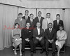 (05.16.1957) Principals in the annual sports banquet for Shamokin Catholic High School athletics are, from left, Alberta James, Rev. Thomas Leitch, Cpl. James McGiew, Leon Korbich and Irene Noga; standing, Samuel Sacus, Vince Balsei, Thomas Buggy, Joe Shumock, Robert Lahnstein and John Fritzpatrick.