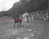 "(10.15.53) Annual Kiwanis Horse Show at Mt. Poco, off Trevorton Road. At left is Louise Richie, Irish Valley, and her horse ""Spary,"" who won second prize. On the right is Mary Jane Persin, from Sante Fe Ranch, and her horse ""Tony,"" winner of first place in the pleasure horse class."