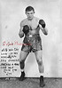 "Boxer Joe Baksi from Kulpmont. Written is, ""To mom, with all the love in the world, and to the dearest mother a man ever had. Your son, Joe."""