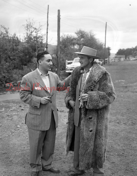 (10.15.53) Annual Kiwanis Horse Show at Mt. Poco, off Trevorton Road. Shown is Attorney Myron Moskowitz, general chairman of the annual event, and Darwin Feese, general manager of the hose show.