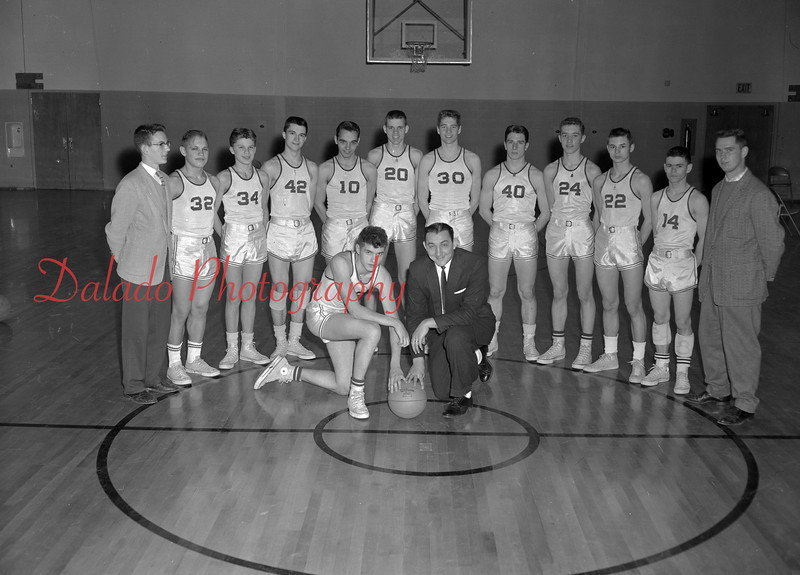 (1960) Our Lady of Lourdes basketball team.