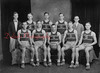 "1929-30 Shamokin High School boys' championship basketball team- Team members are, front row, from left, Ray Kaseman, ""Pete"" Farrow, Fred Lark, Bill Wood, captain; and Joe Evans; back, Frank Omlar, manager; George Thomas, Francis Gillespie, Paul Harris and Ben Thomas, head coach."