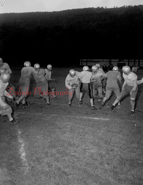 (Oct. 1951) Shamokin football at Edgewood Park.