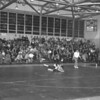 (1961) Shamokin wrestlers go on to beat Allentwon 34-8 in early 1961. Shown in F. Wagner pinning his Allentown opponent.