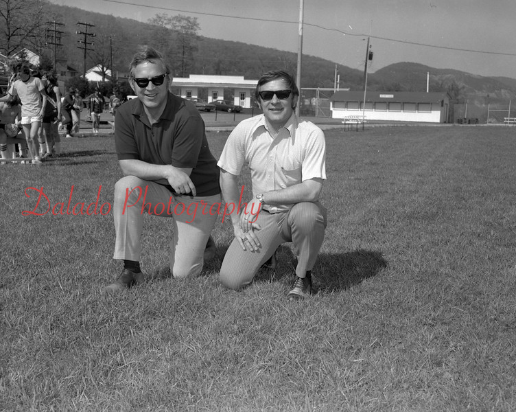 (1974) Shamokin Area High School coaches Ed Binkoski and Charles Bartol.