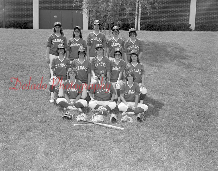(1979) Shamokin Area High School softball.