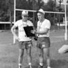 Shown in this undated photo is Trevorton High School football assistant coach Bill Mielke and head coach Harvey Boughner. The football field at Zerbe Township Recreation Area is named after Boughner, head coach at Trevorton and Line Mountain for 15 years.