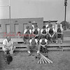 (08.01.1957) Locust Gap junior baseball team get instructions from Coach Kaczmarek on Aug. 1, 1957. Pictured are, front row, from left, Kaczmarek and Klingerman; second row, Boblick, Klinger, Maurer, Moyer and Reichwein; third row, Joyce and Minnick.