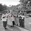 (June 1955) Polish Dramatic Club Field was blessed and dedicated by the Rev. Emil Majchrzak, pastor of St. Stephen's Church. The event marked the official opening of the four-team Catholic circuit, of Stephens, Edward's, Joseph's and Stanislaus Churches. Msgr. Dennis P. Reardon, pastor of St. Joseph's, was in charge of blessing uniform blessing services.