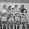 (04.05.53) St. Casimir Junior Basketball Champions are, front row, from left, Eugene Chesney, Paul Ludock, Stanley Petrovich and Robert Witowski; second, John Strike, Bernard Kupszta, Louis Cherneski and Jack Lazarski; back, Joseph Witowski, co-coach; Frank Procopio, Tom Kalokitis and Stanley Chesney, co-coach.