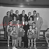 (02.03.55) St. Edward's youth basketball team presentation of new uniforms are, front row, Bernie Dormer and Barry McCabe; second, Jim Laughlin, Sam Cherry, Rev. Daniel Mahoney and Carmen McKenzie; third, Joe McCall, Edwin Dallatore, Tom McDevitt, Tommy Thompson and Julius Ferrari; fourth, Edward Haile, Theodore Szverra, John Coyle, Michael Cooney and Bernard Dormer.