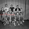 (03.15.56) St. Stan's bball champs are, front row, Marion Yucha, Fred Segedy, Joseph Balchunas, Alvin Balchunas, bernard Suchocki, Robert Fedorko and Joseph Marut; second, Father James Woytowtiak, Arnold Patynski, Ronald Nye, john Skroivranski, Richard Janowicz, Kenneth Maroski and Joe Mack, coach.