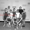 (03.28.57) St. Peter's Church basketball team are, front row, from left, G. Martellis, C. Greco and Len Geiarno; second, M. Kovach, J. Greco, G. Kravitz and F. Pamento; thid, Tony Mosella, Coach J. Batista and Father Ferace.