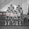 (01.06.55) St. Joseph's bball team are, from left, Ray Golden, Kenneth Rosini, Edward Marcheski and Joseph Narke; second, Tom Hartzel, Mike Gillespie, Jim Schaffer and Dan Fabrizio; third, Mike Dormer and Leo Bednarchick.