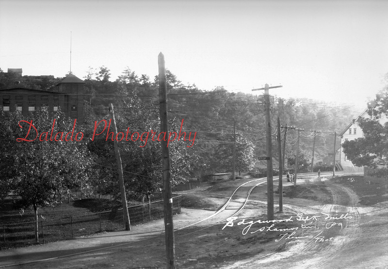 This is the western edge of the property. The house seen at right is on Lynn Street. The trolley tracks ended at Edgewood Park (now Stetler Drive and Kemp Memorial Stadium).