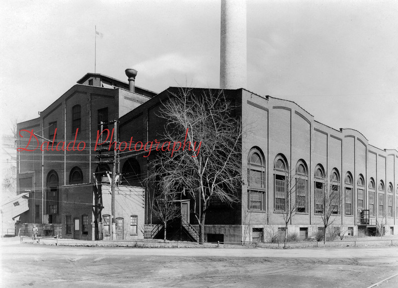 This is a photo of the former building of the Shamokin and Coal Township Light, Heat and Power Company located along Lombard Street. It was built in 1900 and went into service 1901. PP&L acquired it in 1920 and closed it in 1922...
