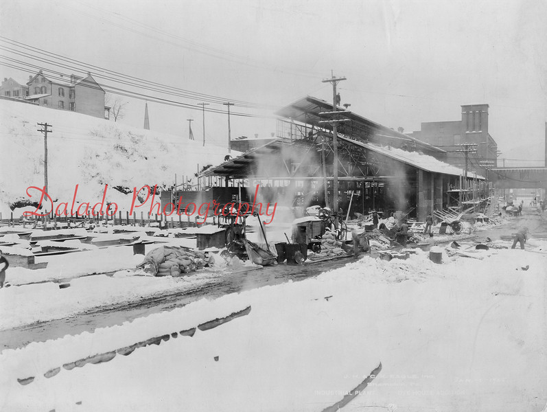 (01.03.1925) The following photos show the addition to the Dye House. This was located on Water Street, directly across from The Mill. A fire on Oct. 6, 1993, would eventually destroy this part of the building. At the time, it was owned by Shamokin Filler Corporation. The remnants of the foundation of this building can still be seen today.