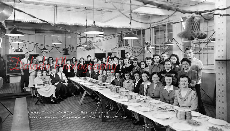 (12.22.44) Christmas party for office force of the Dye and Print Works.