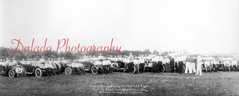(08.15.1913) Annual outing of employees of the J.H. & C.K. Eagle Silk Mill at the Shamokin Driving Park.