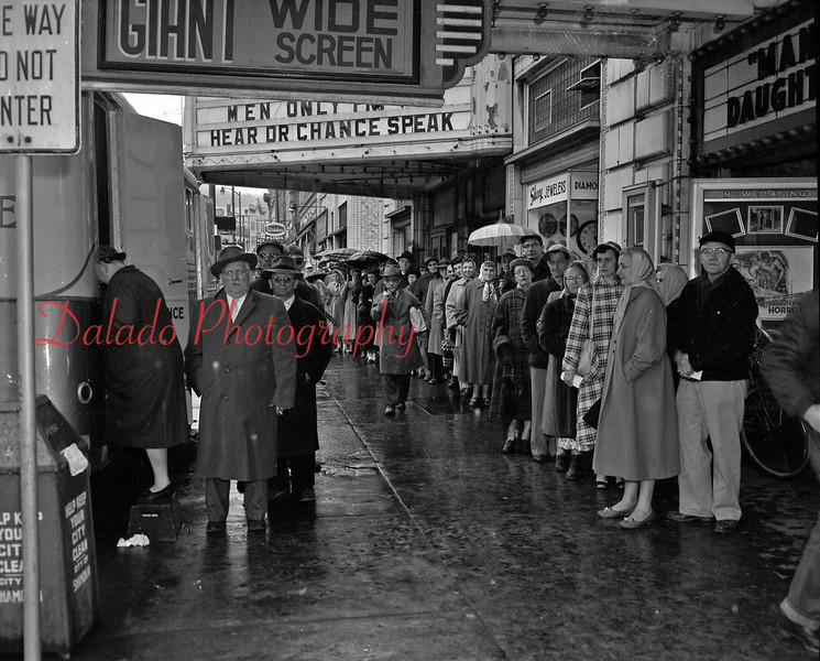 (1957) Outside the Majestic and Vickey.