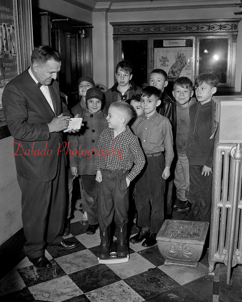 """(February 1963) Mr. Sinkovich and the """"Penny for a Pound"""" at the Capitol."""