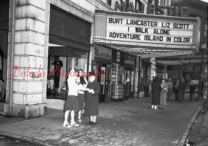 (March 1956) Outside the Majestic.