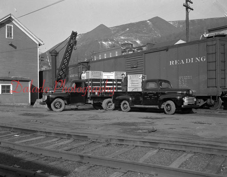 (1950) Zeiglers offloading from a train.