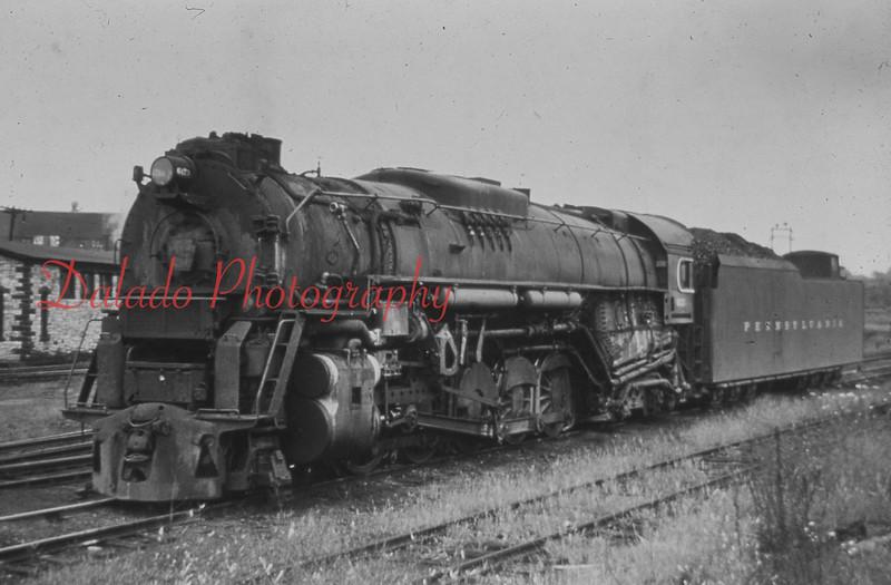 (1957) Pennsylvania train in Shamokin.