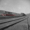 (Oct. 1957) Trains near the St. Nick Breaker.