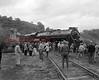 (Oct. 1959) Train in the Reading yard in the Fifth Ward of Shamokin.