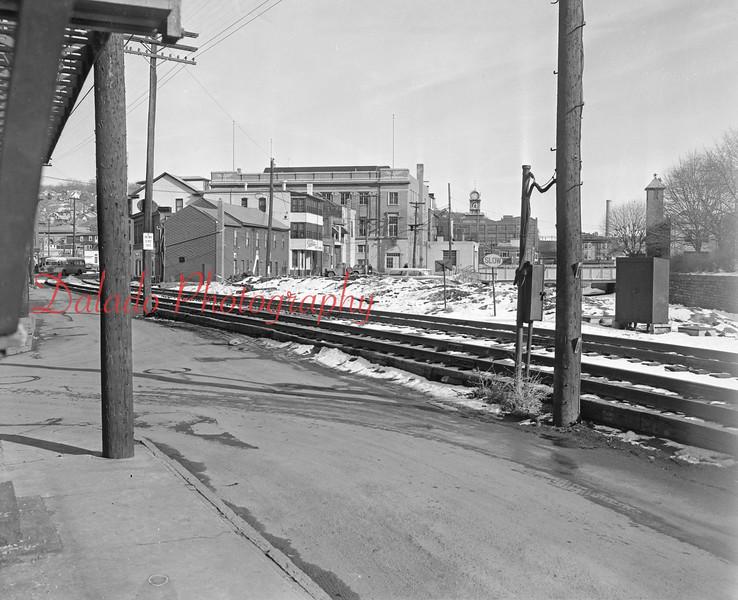 (04.19.56) Reading tracks along Water Street in Shamokin.