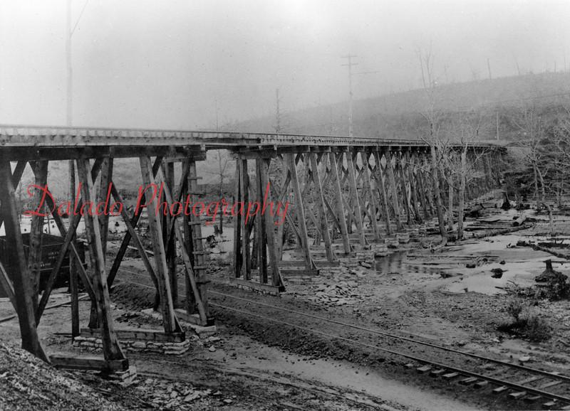 Trestle bridge for the Shamokin-Mt. Carmel Railway.