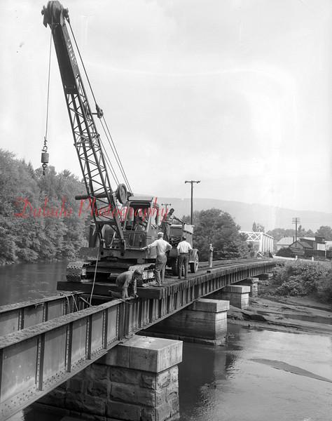 (July 1954) Track removal in Dornsife.