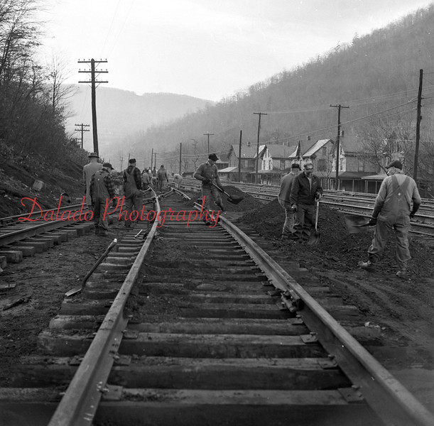 (Dec. 57) Weigh Scales track work.