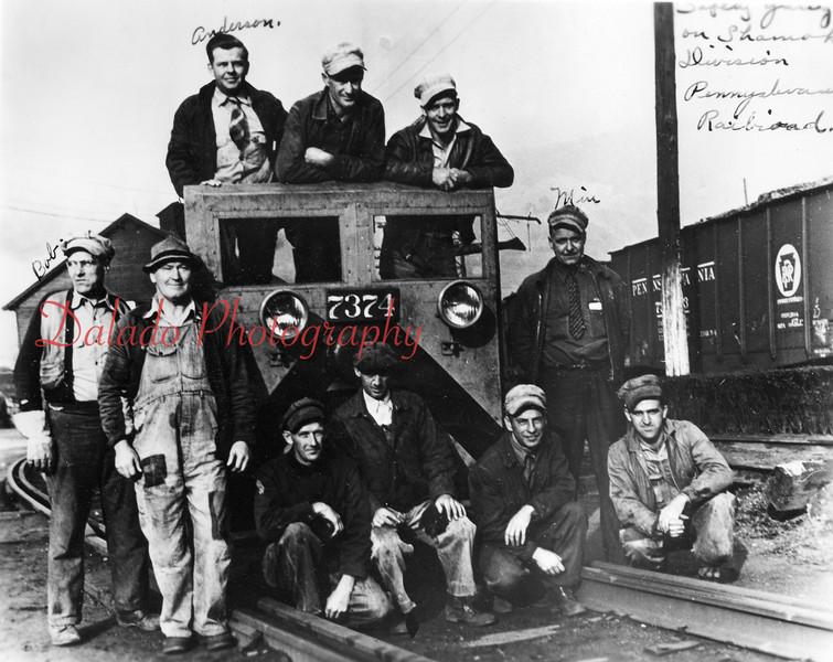 (10.02.1941) Safety gang on the Shamokin Division of the Pennsylvania Rail Road.