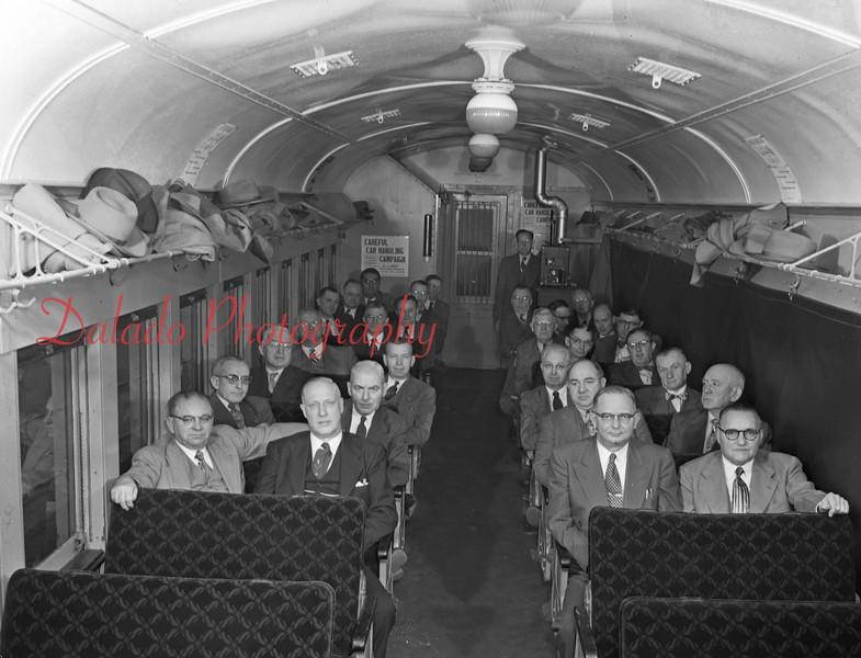 Train passengers.