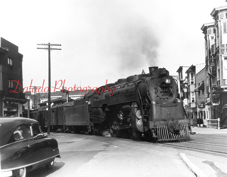 Train crossing Independence Street in Shamokin.