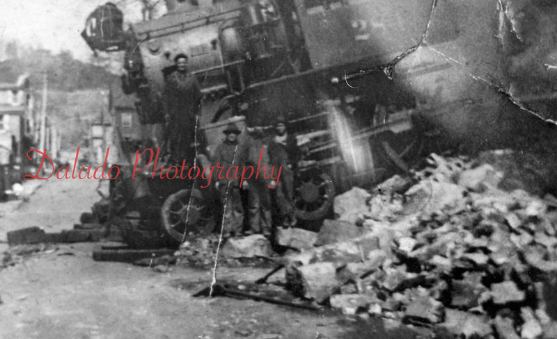 Roundhouse accident in the 5th which killed John Startzel. (1914)