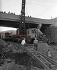 (1959) Looks like the crane collapsed near the Cameron Bridge.