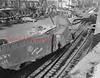 (1955) Train wreck on Commerce Street in Shamokin.