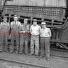 (09.27.53) Reading Railroad crew are, from left, Charles Martz, engineman; Curtis Strohecker, fireman; Gomer Harris, conductor; Leonard Wall, brakeman; and William Sweeney, flagman.