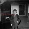 (1950) Train crossing watchman.