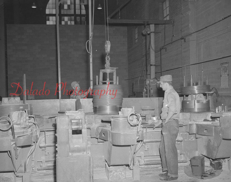 Wire rope factory, unknown.