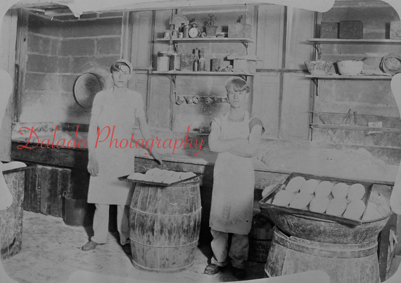 Old photo of an unknown bakery.